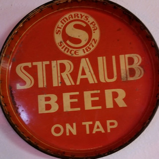Straub Beer beer tray St. Marys PA