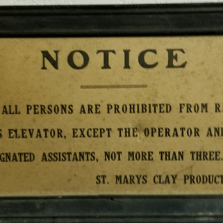 St. Marys Clay products elevator sign St. Marys PA