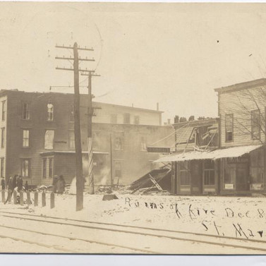 Ruins of fire Dec  1910 St, Marys PA  postcard