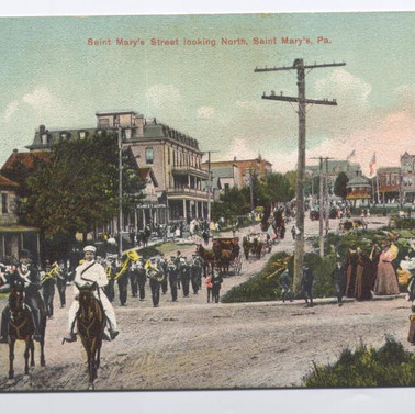 St. Marys ST. looking North St. Marys PA postcard pm 1909