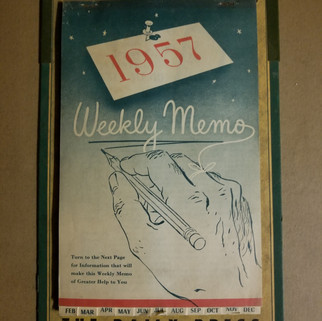 The Daily Press 1957 calendar St. Marys PA