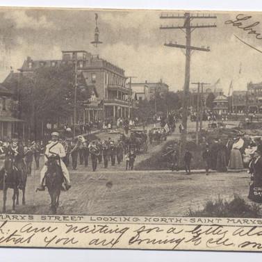 St. MArys st. looking North St. Marys PA postcard