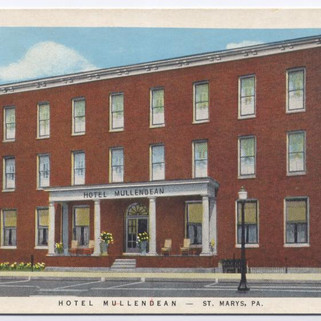 Hotel Mullendean St. Marys PA postcard