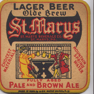 St. Marys Brewing square beer coaster St. Marys PA