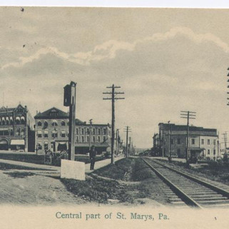 Centralnpart  of St. Marys PA postcard pm 1906