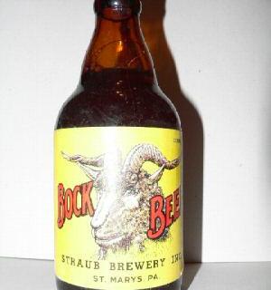 Straub Brewery Bock Beer Steinie Bottle St. Marys PA
