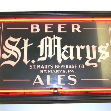 St. Marys Ales neon sign St. MArys Beverage Co. St. Marys PA