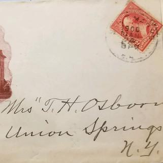 Franklin House envelope 1900 St. Marys PA