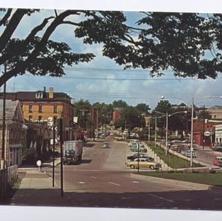 St, Marys PA  Southern approach postcard