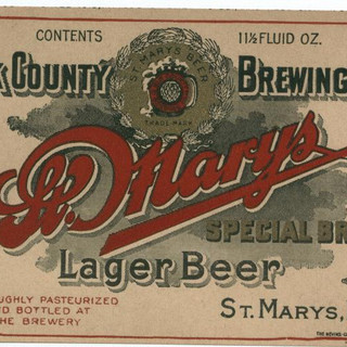 ELK Co. Brewing Co. St. Mays Special Brew Lager Beer label
