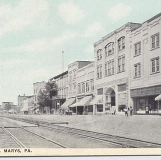 Erie Ave St. Marys PA postcard