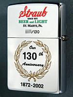 Straub Beer 130th Anniversary Zippo lighter