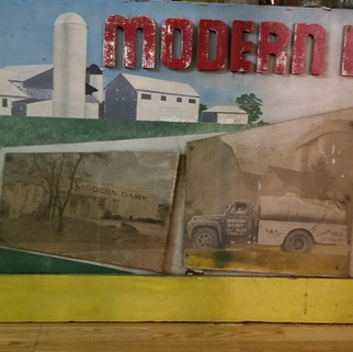 Modern Dairy hand made wooden 4 ft sign St. MArys PA