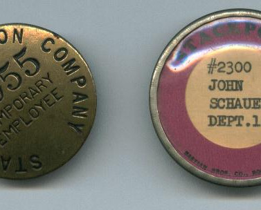 Stackpole Carbon CO. Employees badges St.Marys PA