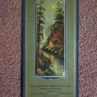 Elk Co. Specialty Co Home furnishings calendar 1934