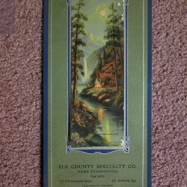 Elk Co. Specialty Co Home furnishings calendar 1934