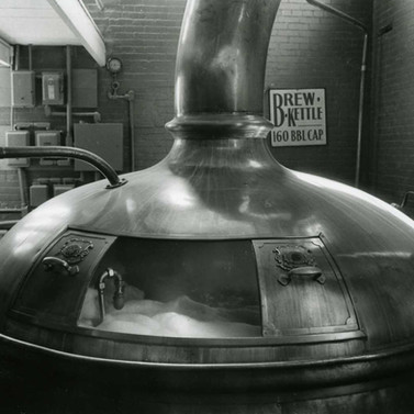 Original brew kettle from the St. Marys Brewing co purchased by Straubs after they went out of business