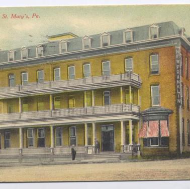 Franklin Hotel St. Marys PA postcard pm1911