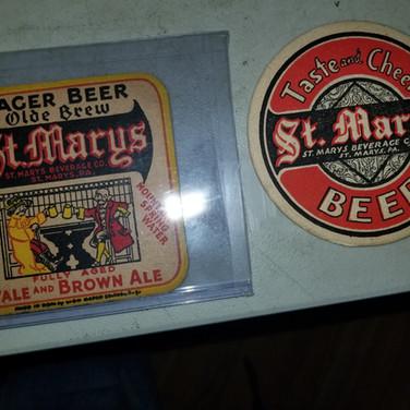 St. Marys Beer coasters