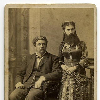 Mr and Mrs Myers Bearded lady of Elk Co. 1880s