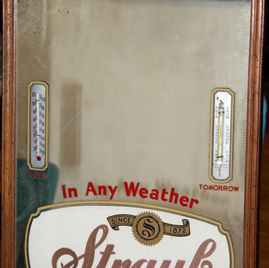 Straub Beer Mirror  thermometer St. Marys PA