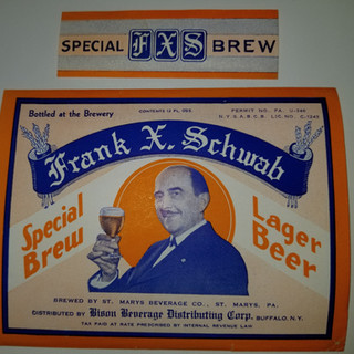 Frank X. Straub Special Brew Lager Beer label