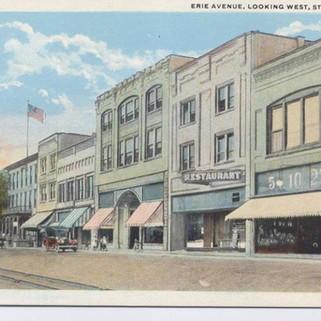 Erie Ave looking  West St. MArys PA postcard