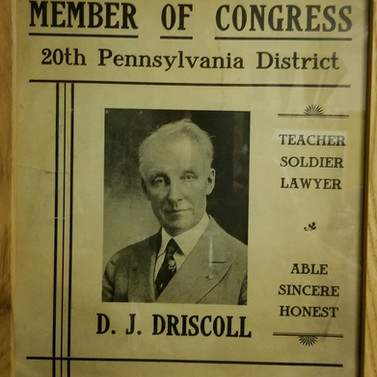 D>J> Driscoll campaign poster St. Marys PA