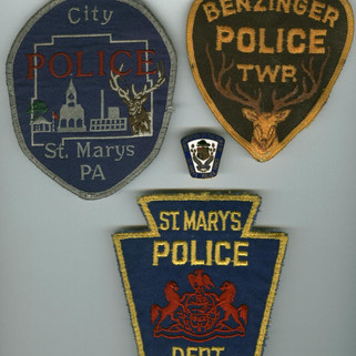 St. Marys PA and Benzinger twp. Police patches St. Marys PA