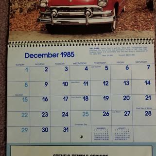 Steves Temple Service  calendar1985