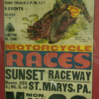 Saddle Pals motorcycle club poster St. Marys PA