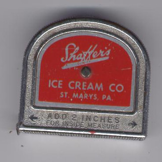 Shaffer ice cream ruler