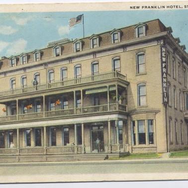 New Franklin Hotel St. Marys PA  postcard pm1925