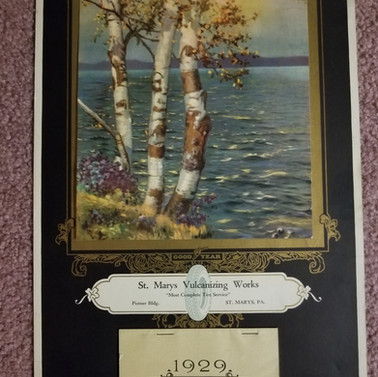 St. Marys vulcanizing works calendar 1929