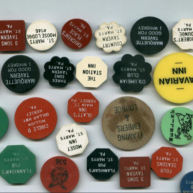 St, Marys bar and beer chip tokens