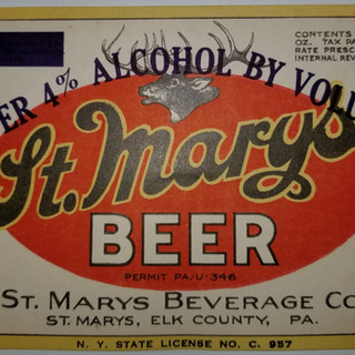 St. Marys Beverage Co. St. Marys PA beer label