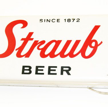 Straub Beer lighted sign St. Marys PA