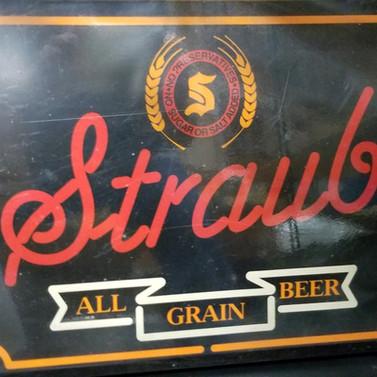 Plastic light up Straub Beer sign
