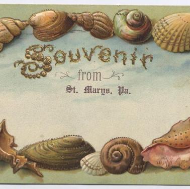 Souvenir postcard St. Marys PA pm1907