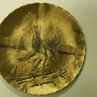 Wendel August Stackpole Bronze tray