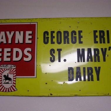 George Erich Wayne Feeds metal Sign St. Marys PA
