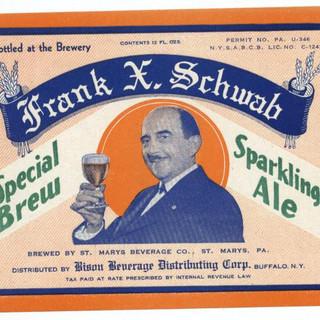 Frank X. Schwab Special Brew Sparkling Ale Beer Label