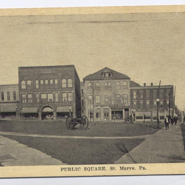 Public Square St, Marys PA postcard pm 1919