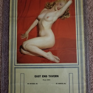 East End Tavern calendar St. Marys PA 1952