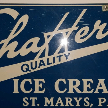 Shaffers quality ice cream metal sign