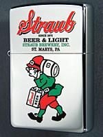 Straub Beer Bavarian Man Zippo lighter St, MArys PA