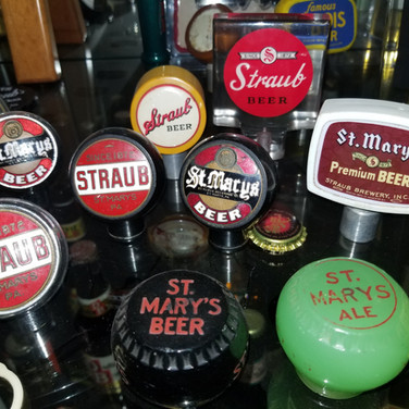 Straub Brewery and St. Marys                        Brewing tap knobs St. Marys PA