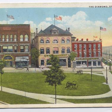 The Diamond St. Marys PA postcard pm 1927
