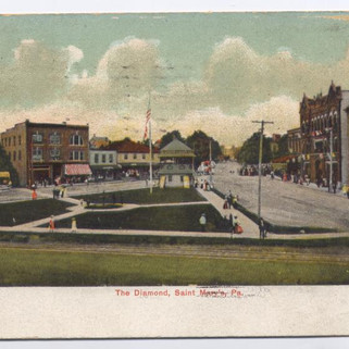 The Diamond ST. Marys PA postcard pm1907