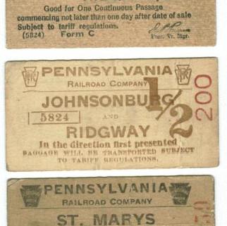 PA Railroad tickets